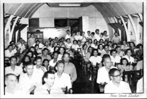 The 1948 national convention of the TS in the Philippines. The building was a quonset hut on a property donated by Mr. & Mrs. Roberto Martinez in 1947.